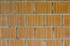 Zbliżenie ściana z cegieł Fotografia Royalty Free