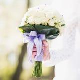 Zbliżenie ślub kwitnie bukiet Fotografia Stock