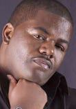 Zbliżenie amerykanin afrykańskiego pochodzenia samiec zdjęcie stock