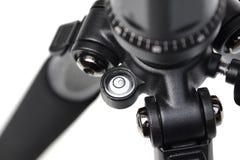 Zbliżenie bąbla poziom kamery tripod Fotografia Stock