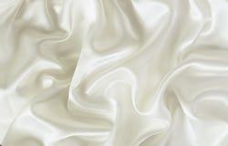 Zbliżenie biała jedwabnicza tkanina Obrazy Royalty Free
