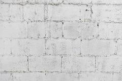 Zbliżenie bielu gnicia ściany z cegieł tła abstrakcjonistyczna tapeta lub sieć sztandar z kopii przestrzenią zdjęcie royalty free
