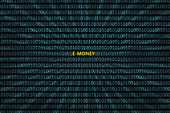 Zbliżenie binarny kod z inskrypcją, Fotografia Royalty Free