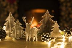 Zbliżenie boże narodzenia dekoruje postacie Zdjęcie Stock