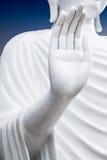 Zbliżenie Buddha statue's otwiera rękę Obrazy Royalty Free