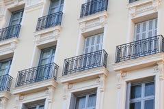 Zbliżenie budować starego stylu Europe belle époque w Europe, Zdjęcie Royalty Free