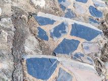 Zbliżenie cementu i skały kroków tło Zdjęcia Stock