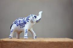 Zbliżenie Ceramiczny słoń od Tajlandia obraz stock
