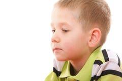 Zbliżenie chłopiec mały rozważny portret Zdjęcie Stock