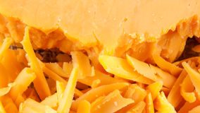 Zbliżenie cheddaru sera kawałki Zdjęcie Royalty Free