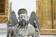 Zbliżenie Chińska statua przy Watem Pho, świątynia w Bangkok Obrazy Stock