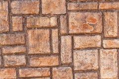 Zbliżenie coloful cegieł tekstury na ścianie i wzory Zdjęcia Royalty Free