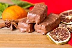 Zbliżenie czekolada Zdjęcia Royalty Free