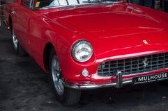 Zbliżenie czerwony Ferrari 250 GT wznawiający Obraz Royalty Free