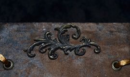 Zbliżenie dekoracyjny element na przyglądającym handmade notatniku Fotografia Royalty Free