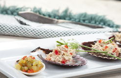 Zbliżenie delicje i tuńczyka sałatka Obraz Royalty Free
