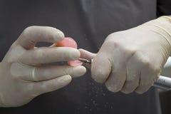 Zbliżenie dentysty nowożytni narzędzia, burnishers Fotografia Royalty Free