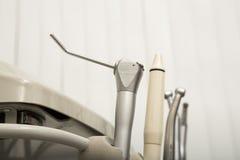 Zbliżenie dentysty nowożytni narzędzia, burnishers Obrazy Stock