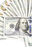 Zbliżenie dolar amerykański obraz stock
