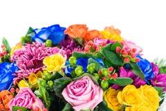 Zbliżenie drogi bukiet kwiaty odizolowywający na białym backgr Fotografia Stock