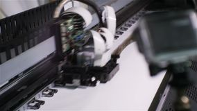 Zbliżenie druku głowy ruchy Szybko i druku wizerunek zbiory