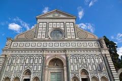 Zbliżenie fasada bazylika Santa Maria nowele kościelne w Flor Fotografia Stock