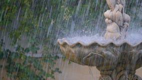 Zbliżenie fontanny woda zbiory wideo