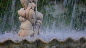 Zbliżenie fontanny woda zdjęcie wideo