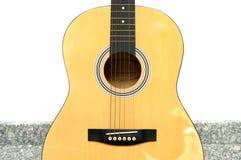 Zbliżenie fotografia ciało gitara akustyczna zdjęcie stock