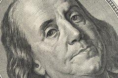 Zbliżenie fotografia 100 dolarowy rachunek obraz royalty free