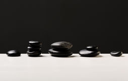 Zbliżenie gorący masaży kamienie Obrazy Stock