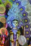 Zbliżenie idol bogini Kali, Navaratri festiwal obraz stock