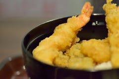 Zbliżenie Japoński kuchni Tempura zdjęcie stock