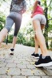 Zbliżenie joggers cieki zdjęcia stock