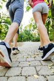 Zbliżenie joggers cieki obraz royalty free