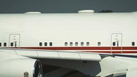 Zbliżenie kadłub Boeing 747 UAE zbiory wideo