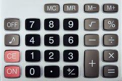 Zbliżenie kalkulatorów guziki Obrazy Stock