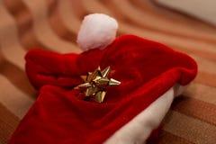 Zbliżenie kapelusz Święty Mikołaj Zdjęcie Stock
