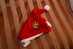 Zbliżenie kapelusz Święty Mikołaj Fotografia Royalty Free