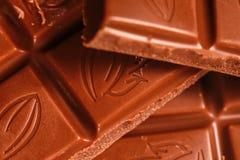 Zbliżenie Karmowi układy scaleni czekolada zdjęcia royalty free