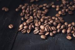 Zbliżenie kawowe fasole Zdjęcie Stock