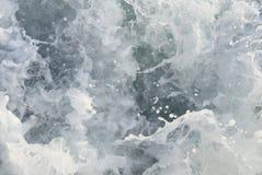 Zbliżenie kipieć wodę morską Obraz Stock