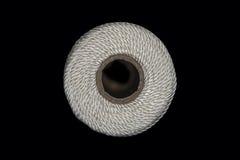 Zbliżenie końcówka bielu sznurka dratwa Obraz Stock