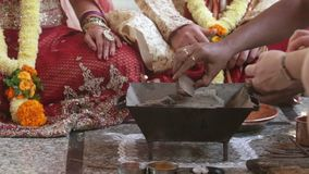 Zbliżenie kobieta Przygotowywa grabę dla puryfikacja rytuału zdjęcie wideo