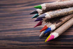zbliżenie kolorów ołówki Obraz Stock