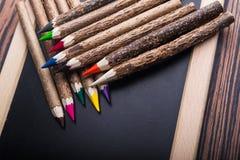 zbliżenie kolorów ołówki Zdjęcia Royalty Free