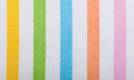 Zbliżenie kolorowa pasiasta tkanina jako tło lub tekstura obrazy stock