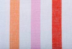 Zbliżenie kolorowa pasiasta tkanina jako tło lub tekstura zdjęcia royalty free