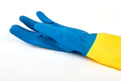 Zbliżenie kolorowa rękawiczka, biały tło Obraz Stock