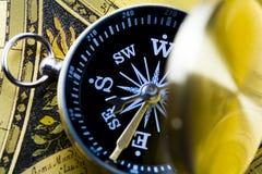 zbliżenie kompasowy szczegół Obraz Royalty Free